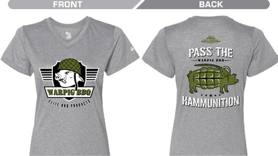 Ladies Grey Ham Grenade Shirt