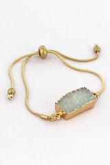 Worn Goldtone Adjustable Bracelet