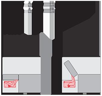 Подлокотник PP 066-8 хром