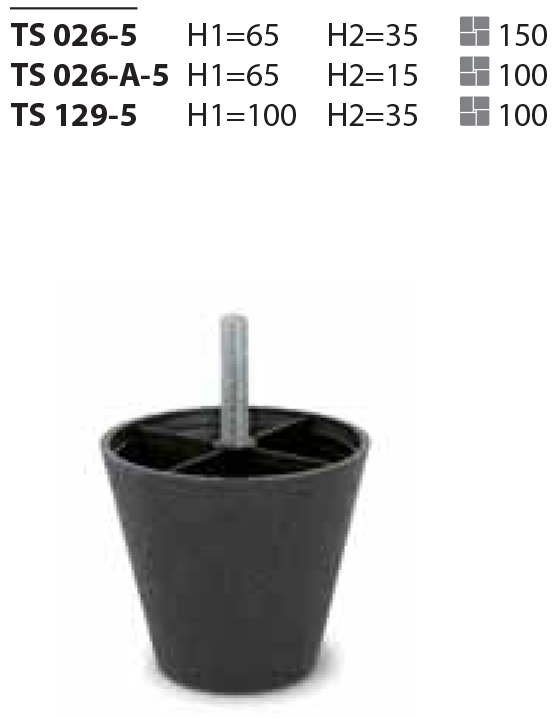 Пластиковая опора TS 026-A-5