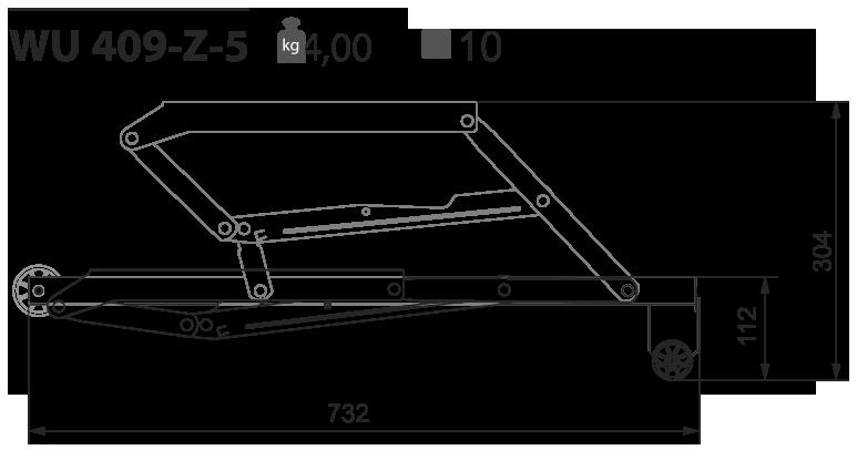 Выкатной механизм для дивана WU 409-Z-5