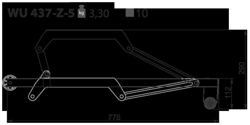 Выкатной механизм для дивана WU 437-Z-5