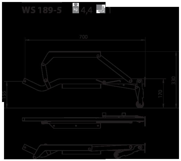 Выкатной механизм для дивана WS 189-5