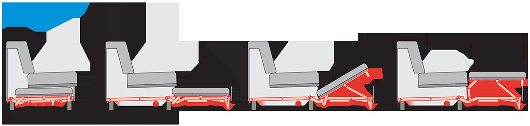 Выкатной механизм для дивана WS 012-5