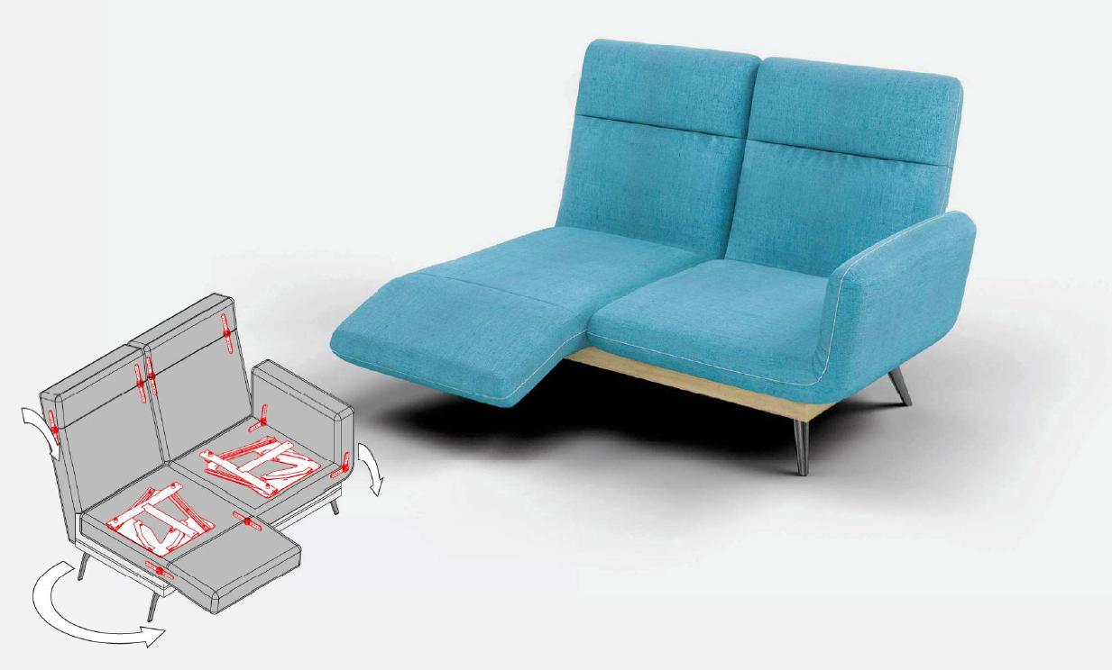 Поворотный механизм трансформации дивана PB 041-5