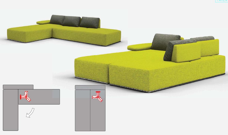 Поворотный механизм трансформации дивана PB 031-5