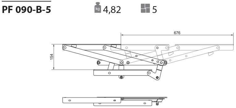 Механизм для дивана пума PF 090-5