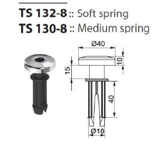 Втулка подголовника TS 132-8