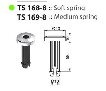 Втулка подголовника TS 168-8