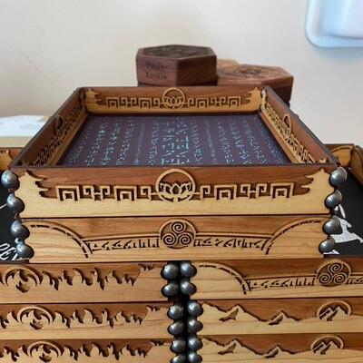 Leather Scroll Dice Rolling Tray