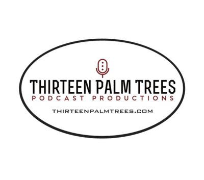 Thirteen Palm Trees Oval Sticker