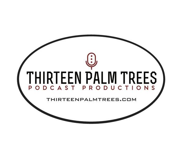 Thirteen Palm Trees Oval Sticker