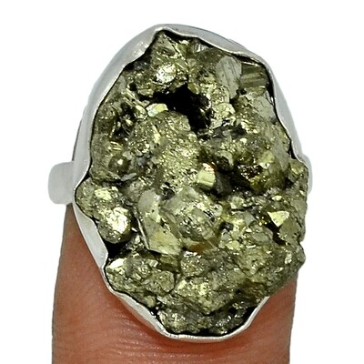 Golden Pyrite Ring Size 8
