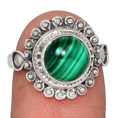 Malachite Ring Size 6.5