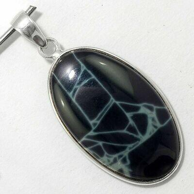 Spiderwave Obsidian Pendant