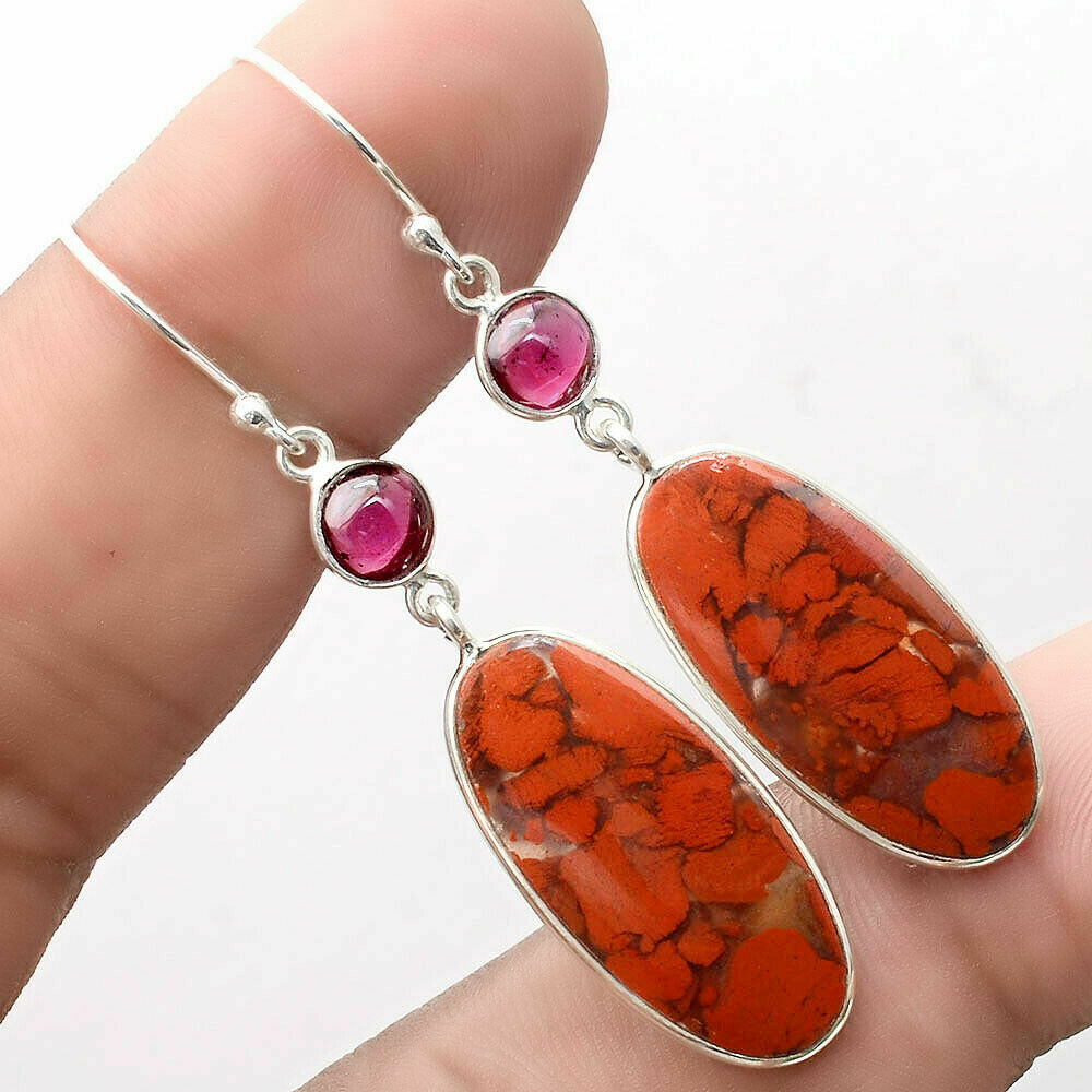 Red Jasper and Garnet Earrings