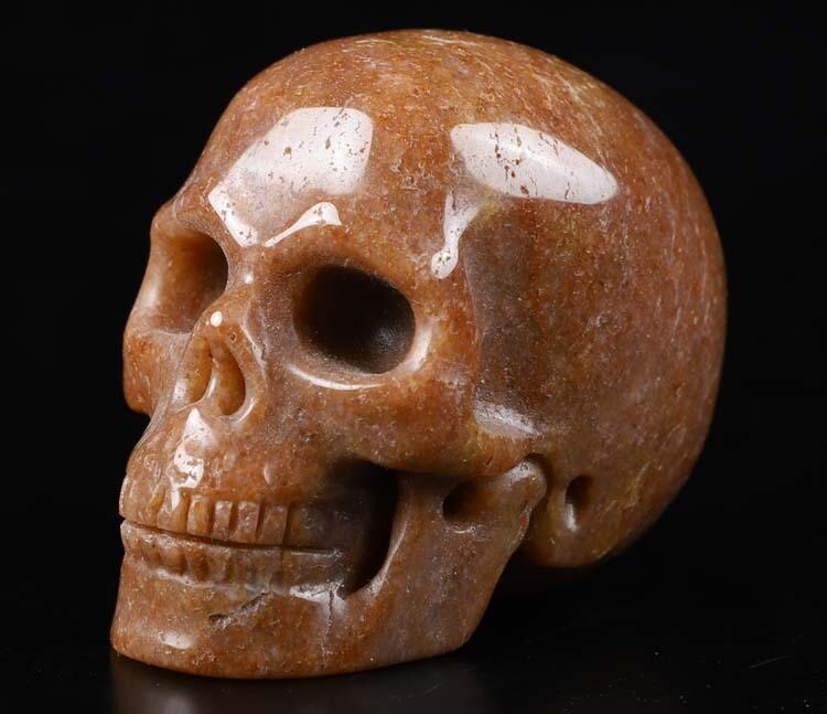 """Skull- Strawberry Quartz 2"""""""