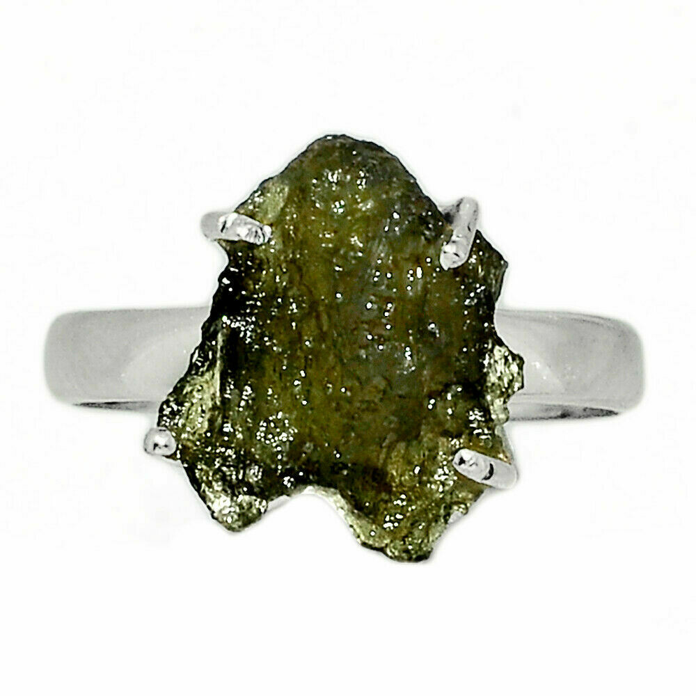 Moldavite Ring Size 7.5