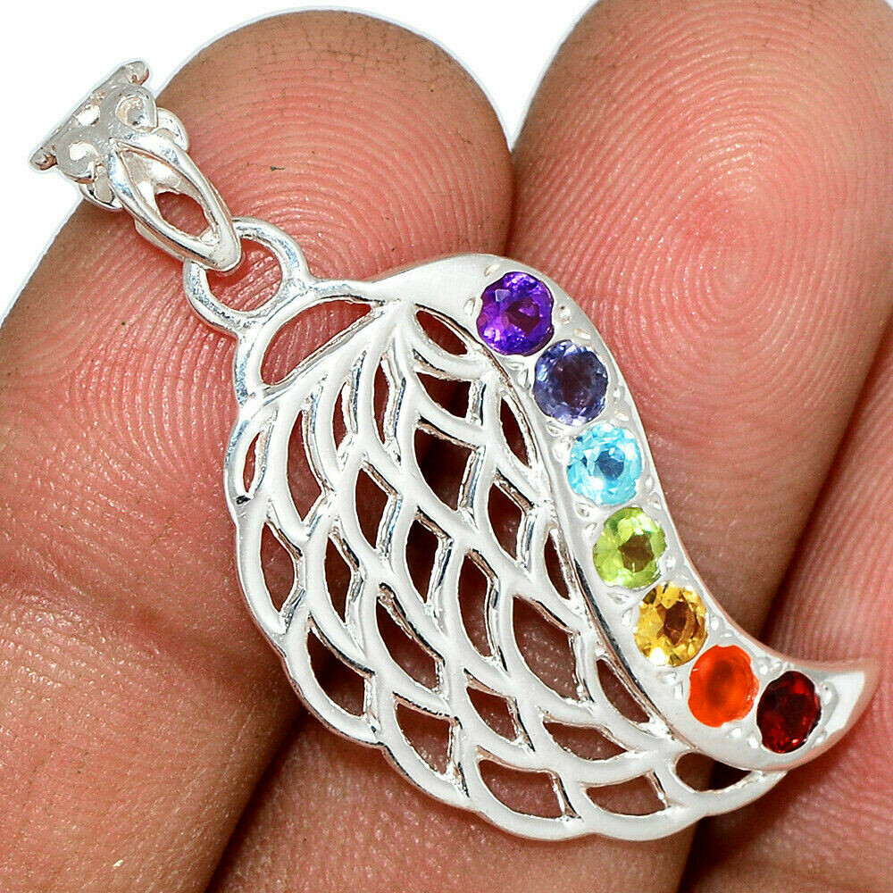 Om Feather Pendant