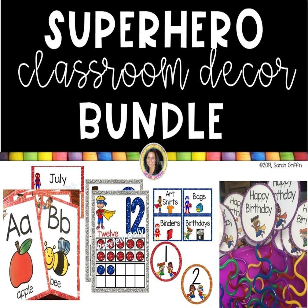 Superhero Decor for the Classroom