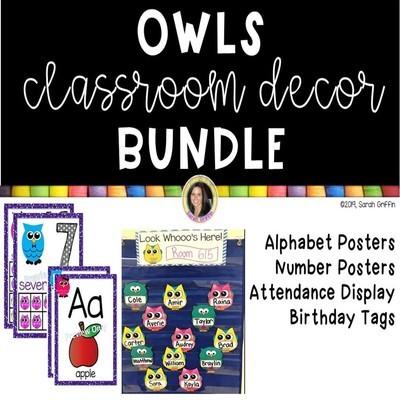 Owl Decor for the Classroom - Bundle