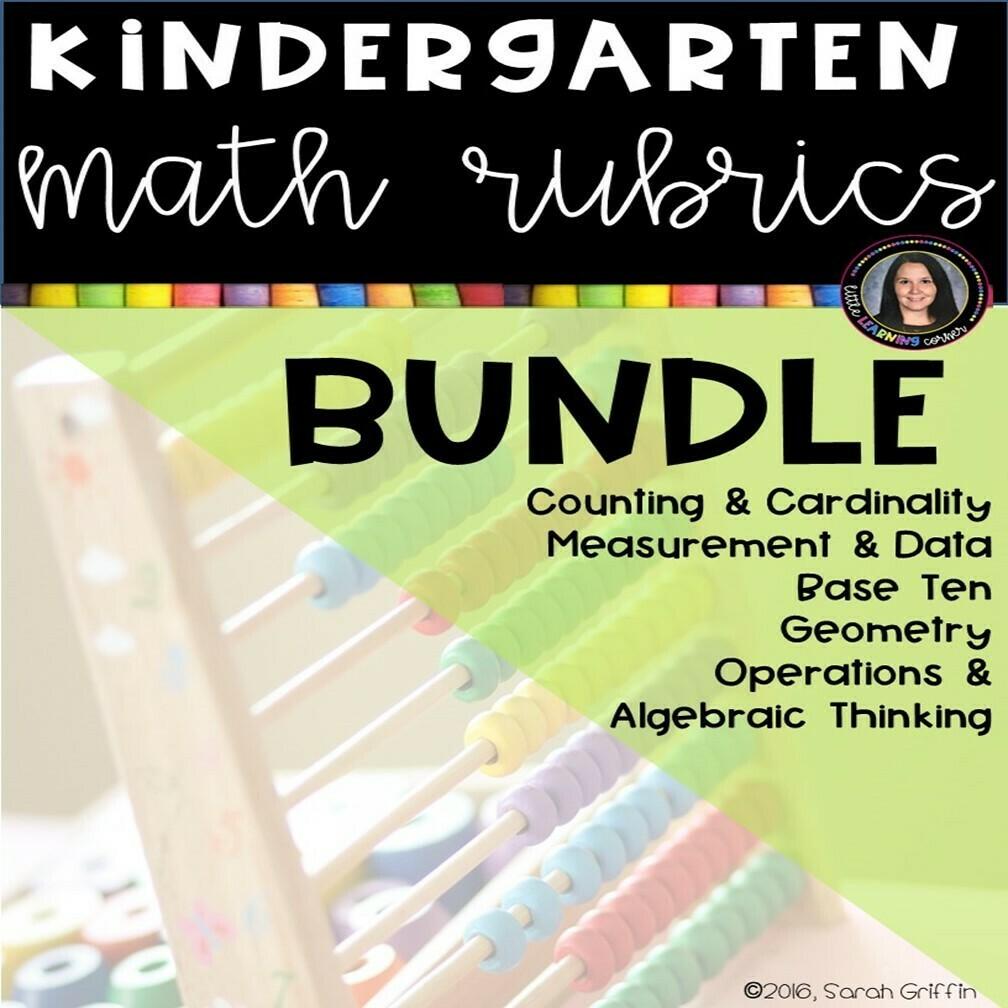 Kindergarten Math Rubrics