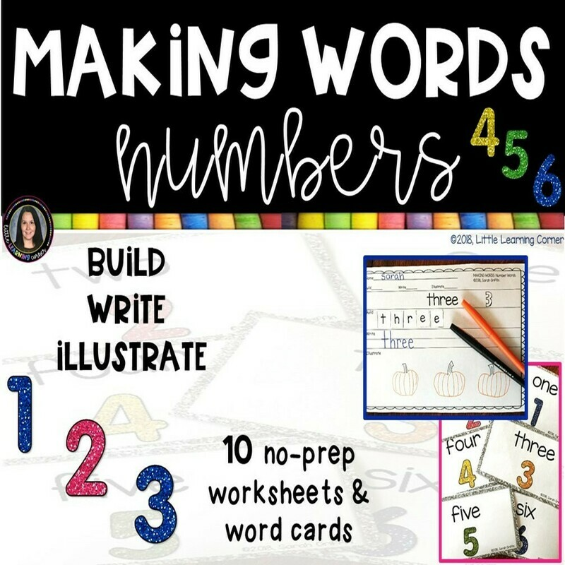 FREE Making Words: Number Words