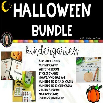 Halloween Bundle for Kindergarten