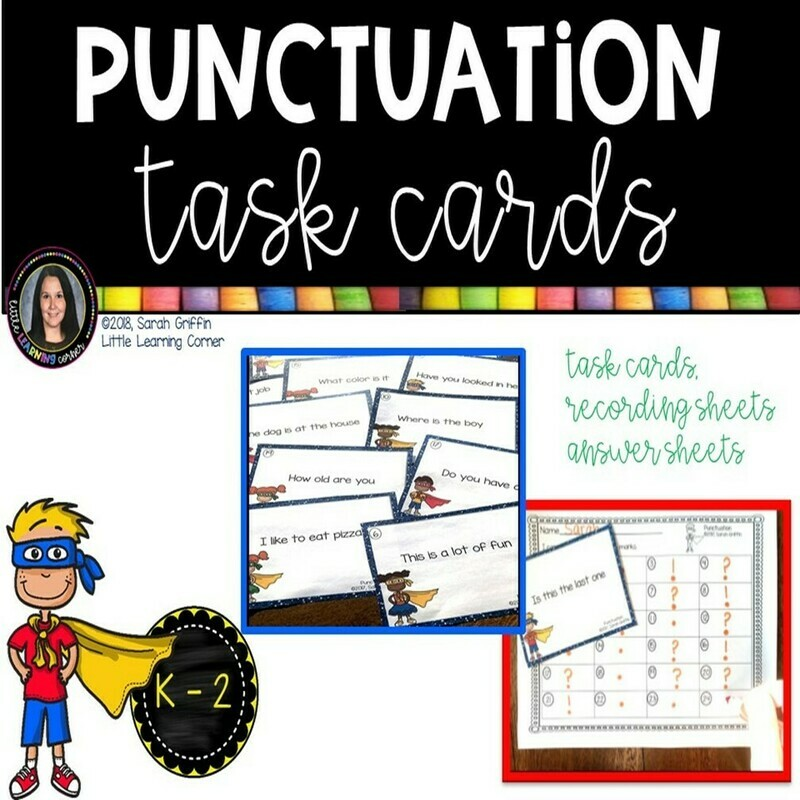 Punctuation Marks Task Cards