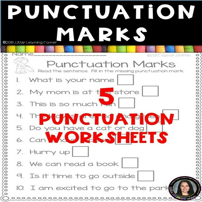 Punctuation Marks Worksheets