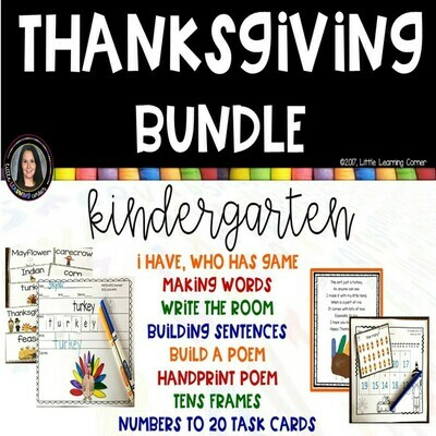 Thanksgiving Bundle for Kindergarten