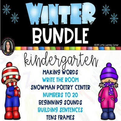 Winter Bundle for Kindergarten