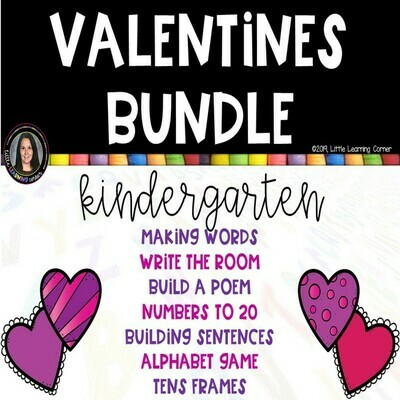 Valentines Kindergarten Bundle