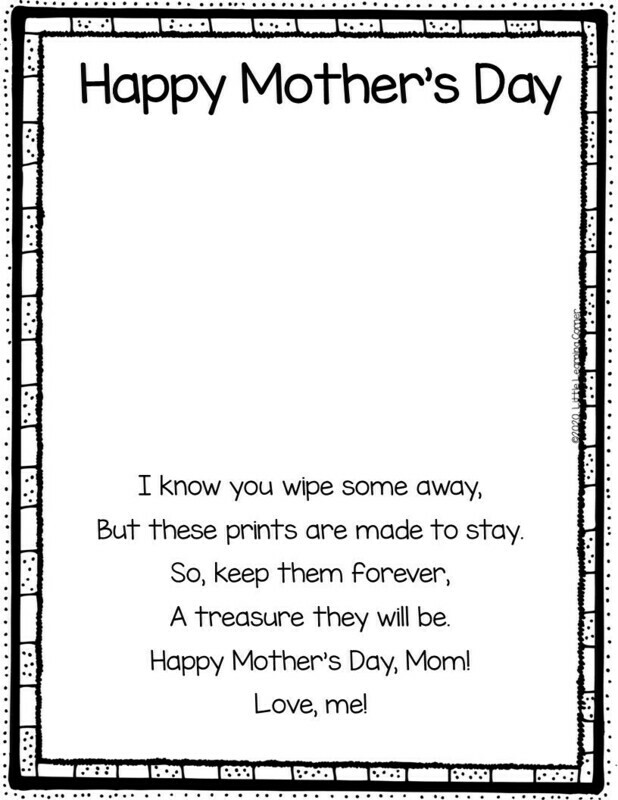 Mothers Day Handprint Poem