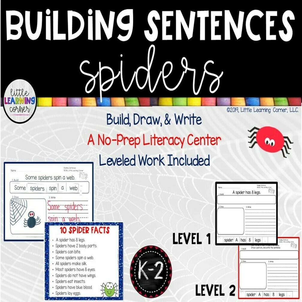 Building Sentences: Spider Facts