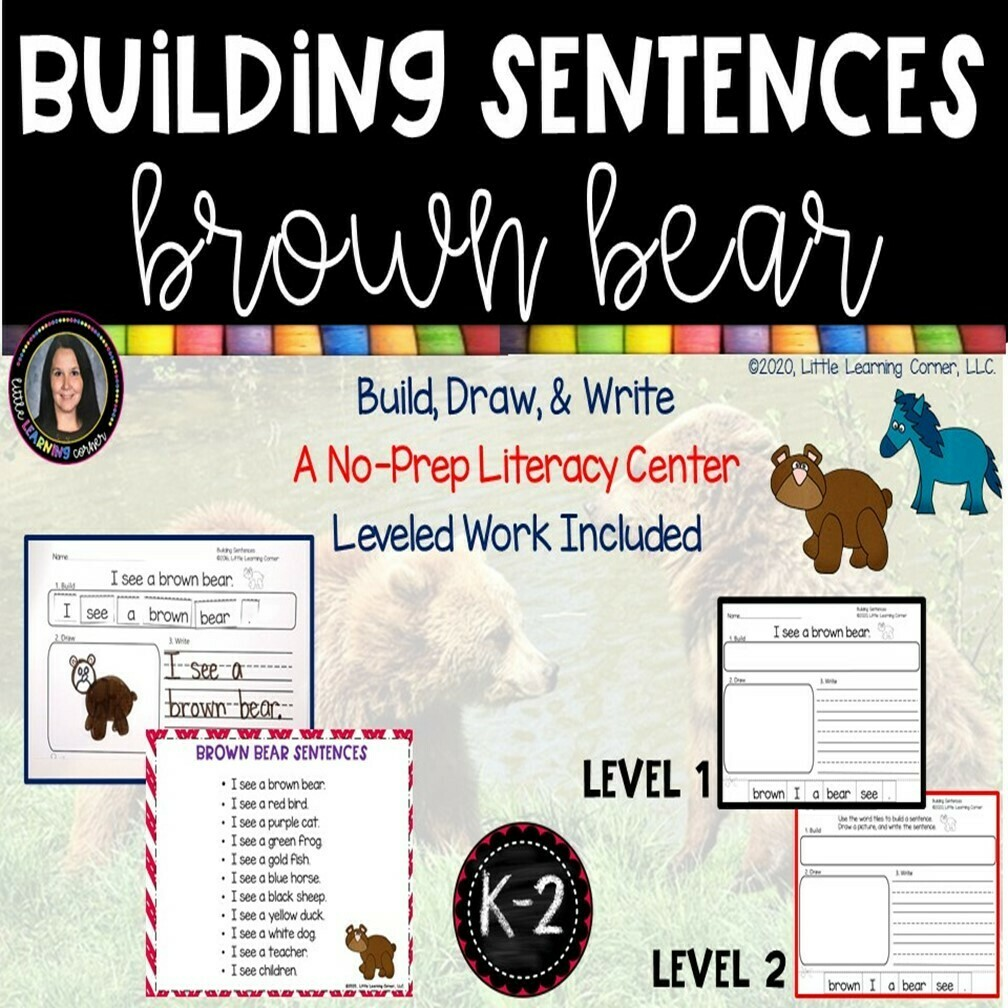 Building Sentences: Brown Bear, Brown Bear