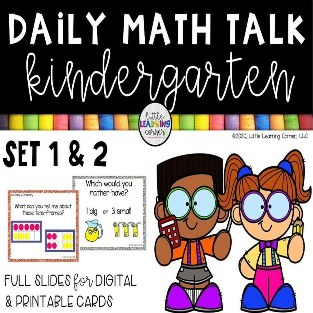 Kindergarten Math Talks | Set 1 & 2