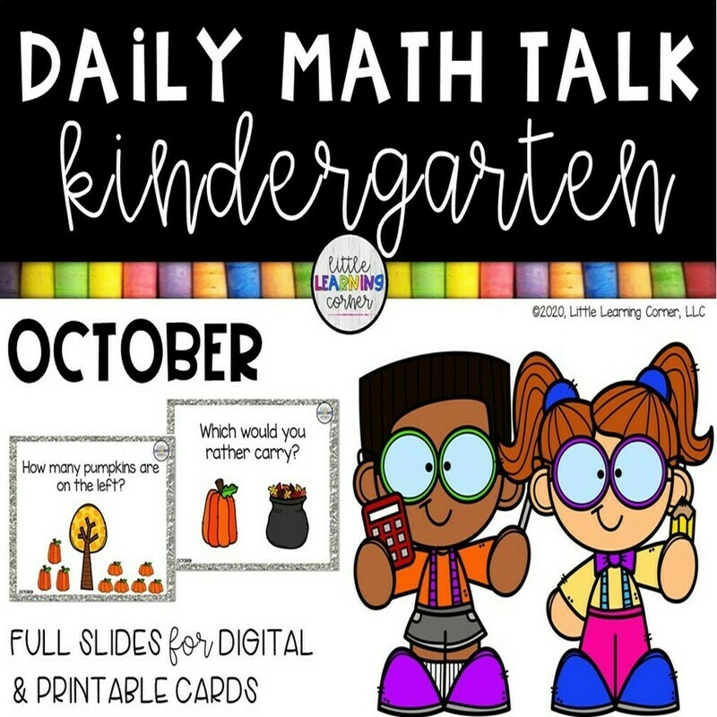 Kindergarten Math Talks - October