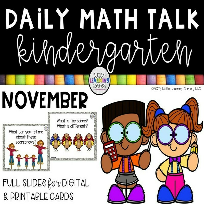 Kindergarten Math Talks - November