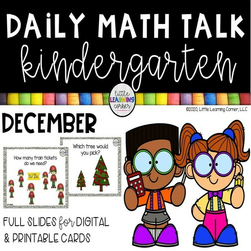 Kindergarten Math Talks - December