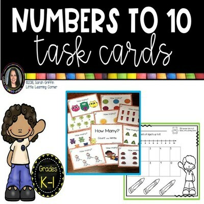 Numbers to 10 Task Cards