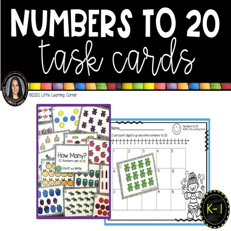 Numbers to 20 Task Cards