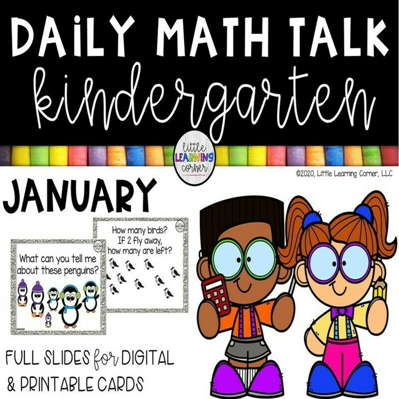 Kindergarten Math Talks - January