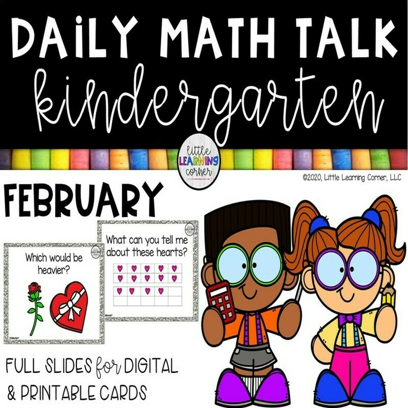 Kindergarten Math Talks - February