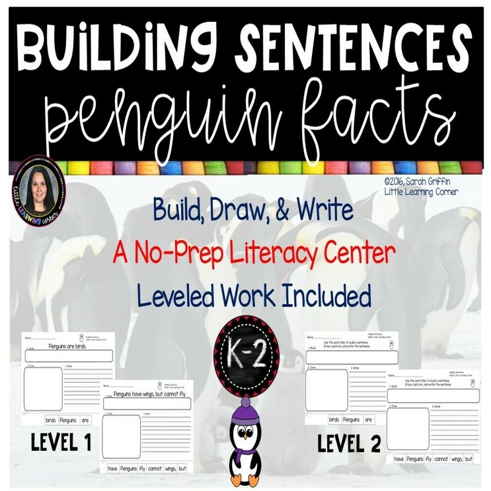 Building Sentences: Penguin Facts for Kids