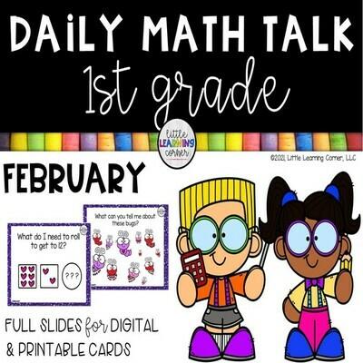 First Grade Math Talks - February