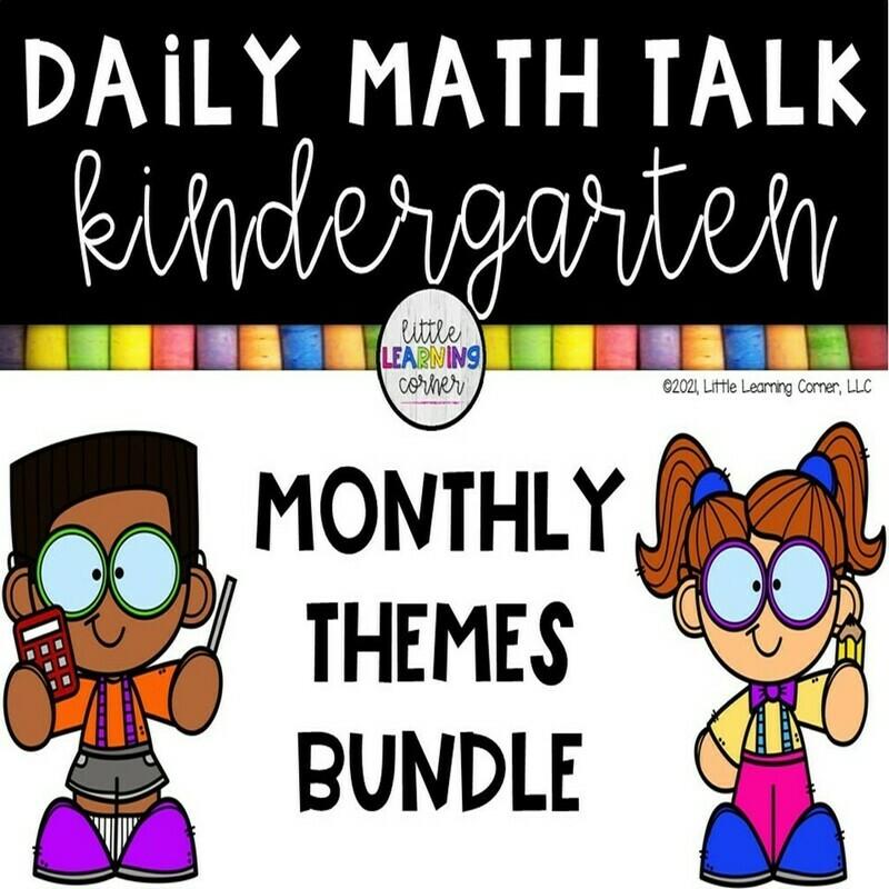 Kindergarten Math Talks BUNDLE