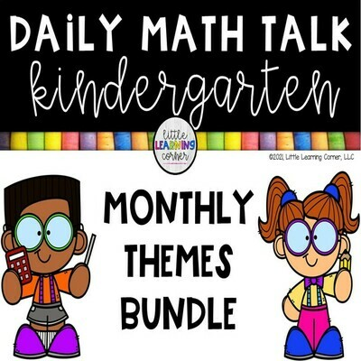 Kindergarten Monthly Math Talks - BUNDLE