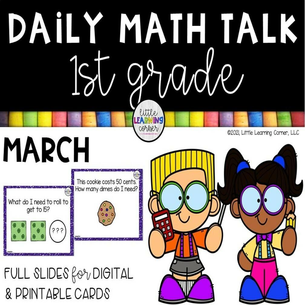 First Grade Math Talks - March