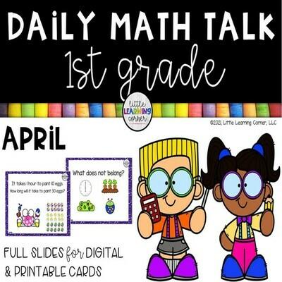 First Grade Math Talks - April